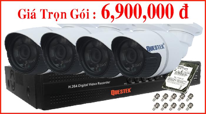 Trọn Gói 04 Camera AHD Questek – Chất lượng Cao