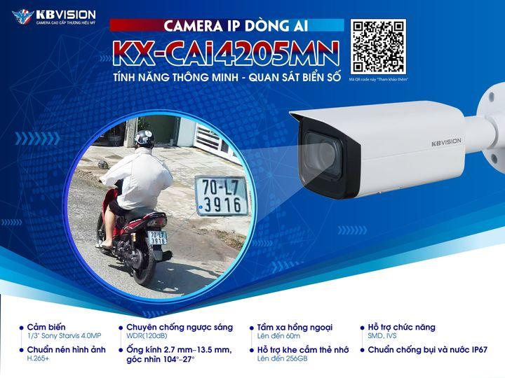 Camera IP hồng ngoại 4.0 KBVISION KX-CAi4205MN